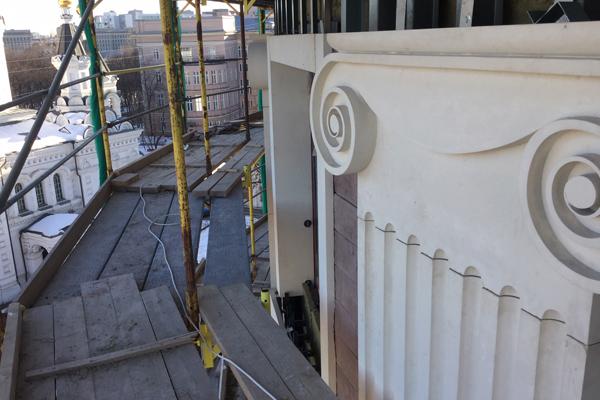 Монтаж фасада