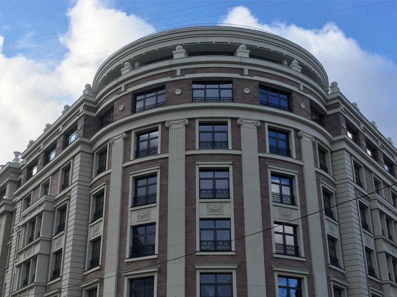 Классические элементы декора фасада из стеклофибробетона