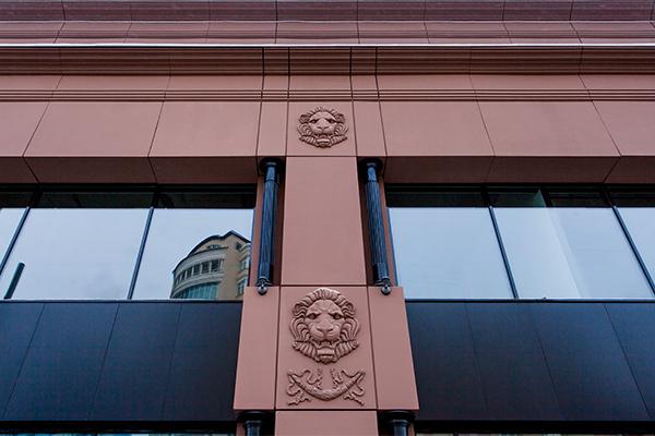 архитектурные элементы из бетона для фасада